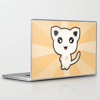 kawaii Laptop & iPad Skins featuring Kawaii Cat by Nir P