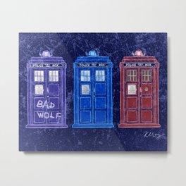 The Doctors' TARDISes Metal Print