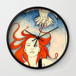 Neko and the Gyrfalcon Wall Clock