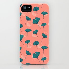 Bright Ginkgo & Dots #society6 #decor #buyart iPhone Case