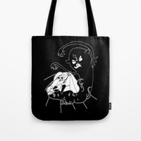 demon Tote Bags featuring ▴ demon ▴ by PIXIE ❤︎ PUNK