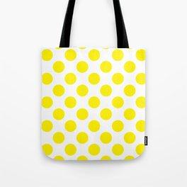 Yellow Large Polka Dots Pattern Tote Bag