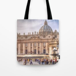 The Papal Basilica of the Saint Peter in the Vatican, Rome Tote Bag