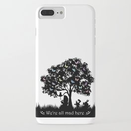 We're All Mad Here III - Alice In Wonderland Silhouette Art iPhone Case