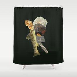 Black Fish Shower Curtain