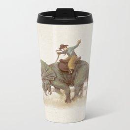 Dino Rodeo  Metal Travel Mug