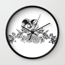 romantic skull Wall Clock