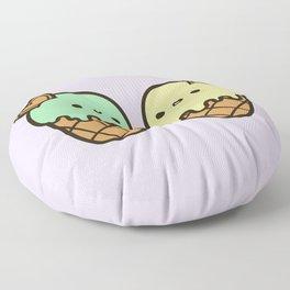 Ice cream love Floor Pillow