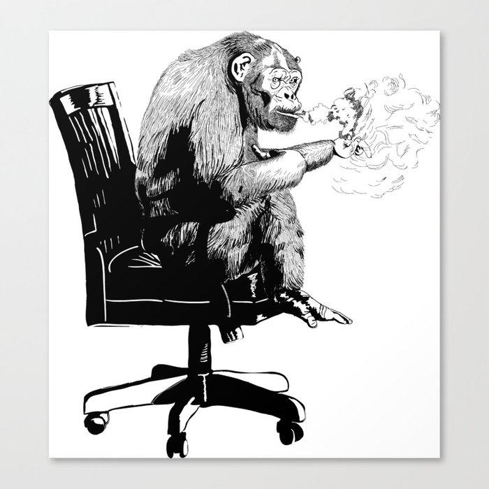 """On Mah Break"" Gorilla Canvas Print"
