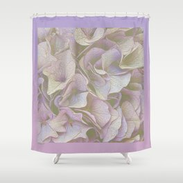 FADED HYDRANGEA CLOSE UP Shower Curtain
