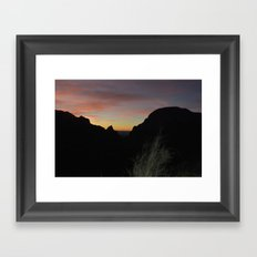 The Window Framed Art Print