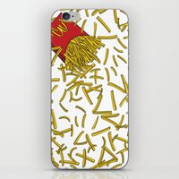 fries iPhone & iPod Skins featuring Falling Fries by João Tiago Camargo