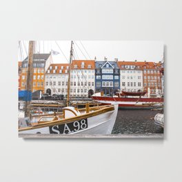 Boats on Nyhavn Metal Print