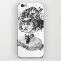 fleur de lis iPhone & iPod Skins featuring Fleur De Lis by April Alayne