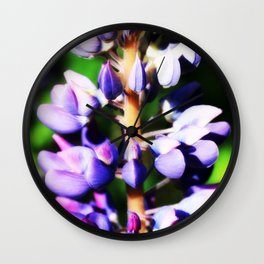 Lupine close up Wall Clock