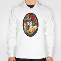 day of the dead Hoodies featuring Day of the Dead by Little Lost Forest