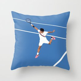 Roger Federer Backhand Throw Pillow
