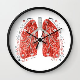 folky lungs Wall Clock