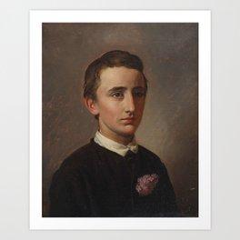 Constantin Hansen, Portrait of August Weis Art Print