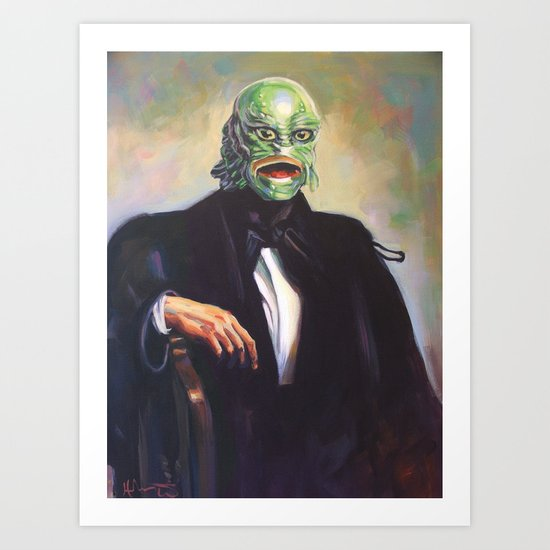 Portrait of Monsieur Gills Art Print