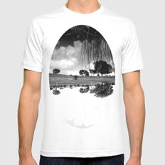what is reflection? White Mens Fitted Tee MEDIUM