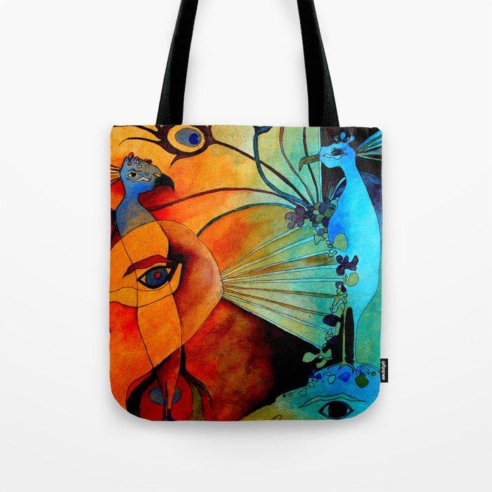 Peacock World Tote Bag