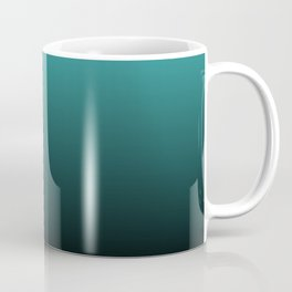 Teal Black Ombre Coffee Mug