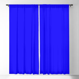 Curves in Yellow & Royal Blue ~ Royal Blue Blackout Curtain