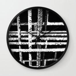 Rebar And Brick - Industrial Abstract Wall Clock