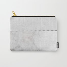 Elegant vintage white gray stylish marble Carry-All Pouch