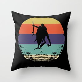 Spearfisher Throw Pillow