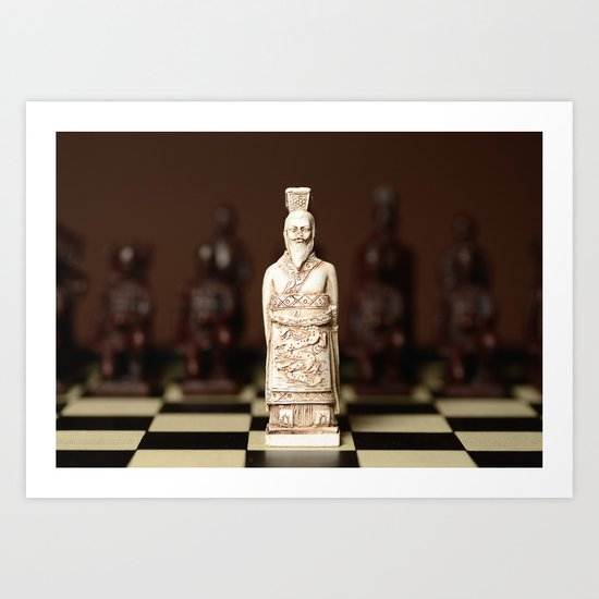 Chinese chess King Art Print