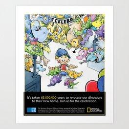 National Geographic Dinosaur Promo Art Print
