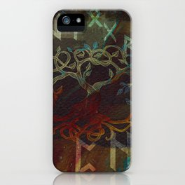 Tree of life  -Yggdrasil - and runes iPhone Case