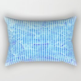 Pale Blue Dots Rectangular Pillow