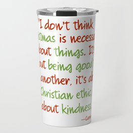 Carrie Fisher Christmas Quote Travel Mug