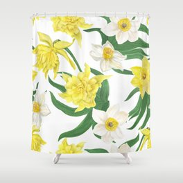daffodil flowers Shower Curtain