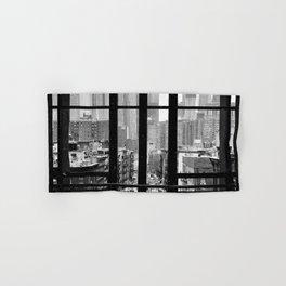New York City Window Black and White Hand & Bath Towel