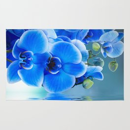 Blue Orchids Rug