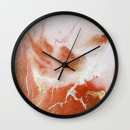 Dirty pink marble Wall Clock