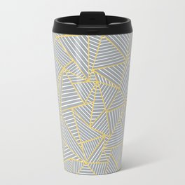 Ab Outline Gold and Grey Travel Mug