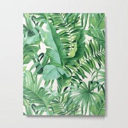 Green tropical leaves III Metal Print