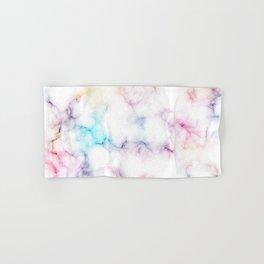 Rainbow Marble Pattern Hand & Bath Towel