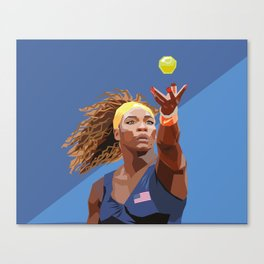 American Tennis Champion Canvas Print