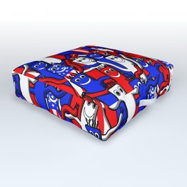 red white and blue wacky inflatable arm flailing tube man Outdoor Floor Cushion
