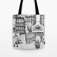 baking Tote Bags featuring Baking Cats by Ulrika Kestere