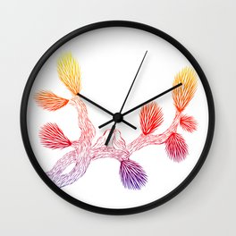 Quails in Love on Joshua Tree by CREYES Wall Clock