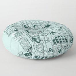 I've Seen Strange Things in City Windows Floor Pillow