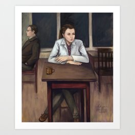 BBC Sherlock - Cafeteria Scene Art Print