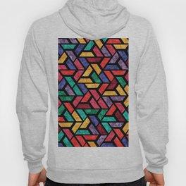 Seamless Colorful Geometric Pattern IX Hoody